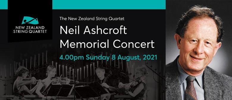 The NZ String Quartet Neil Ashcroft Memorial Concert