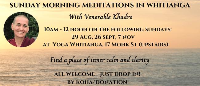 Sunday Meditations with Venerable Khadro