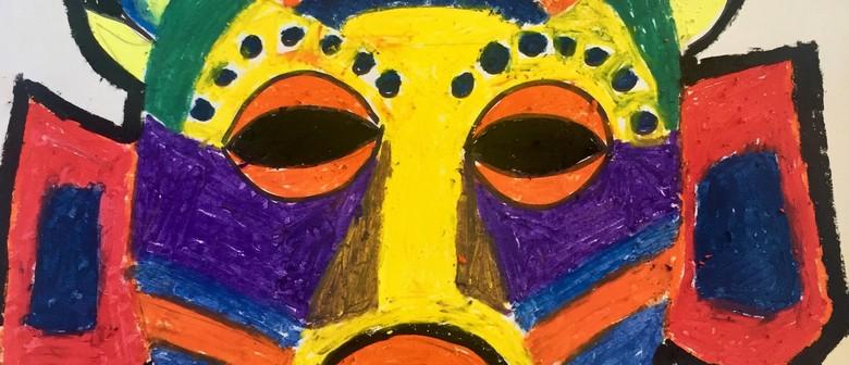 Funky Colourful Mask with Ekarasa Doblanovic
