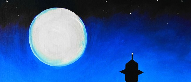 Paint & Wine Night - Moonrise Over Auckland
