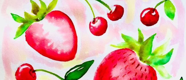 Watercolour Night - Summer Fruit