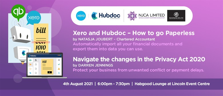 Xero and Hubdoc Training &  Demystifying the new Privacy Act
