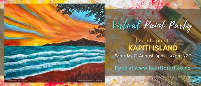 Paint Party - Kapiti Island Painting - Online Art Class