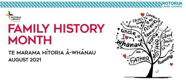 Te Marama Hītori ā-Whānau - Family History Month