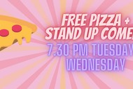 Image for event: Pizza + Stand Up Comedy