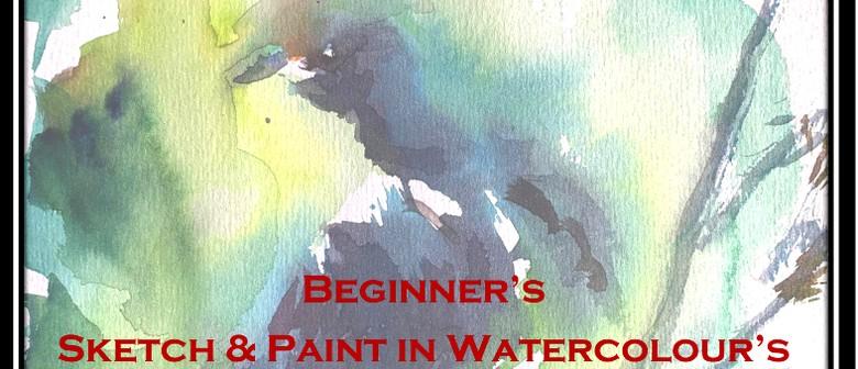 Beginners Sketch & Paint in Watercolours