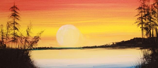 Paint & Chill Saturday Night - Golden Sunset