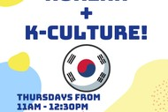 Image for event: Learn Korean and K-Culture