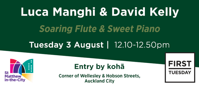 First Tuesday Concert - Flute and Piano