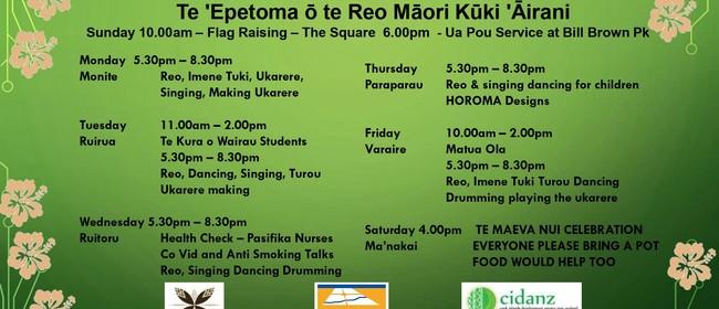 Te 'Epetoma ō te Reo Māori Kūki 'Āirani  C.I. Language Week
