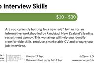 Image for event: CV & Job Interview Skills