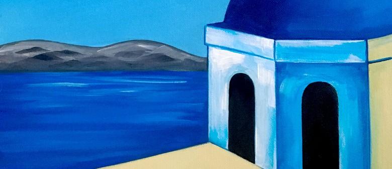 Paint & Wine Night - Santorini