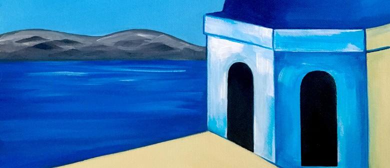Paint and Wine Night - Santorini