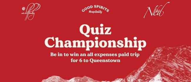 Good Spirits Hospitality Master Quiz Competition
