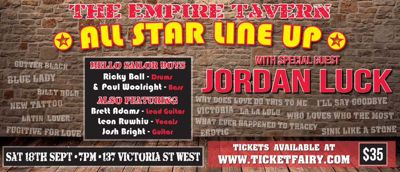 All Star Line Up with special guest Jordan Luck