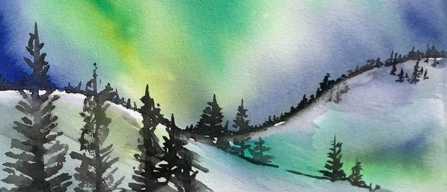 Paint and Wine Night - Northern Lights