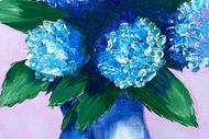 Paint and Wine Night - Hydrengea Vase