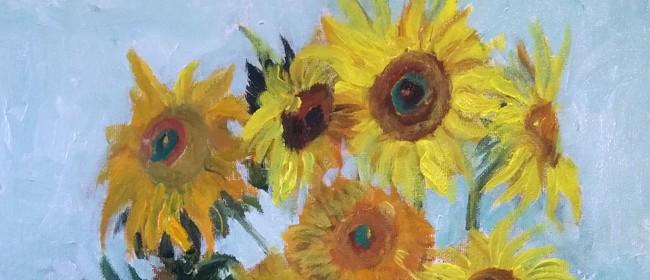 Paint and Wine Night -Sunflowers