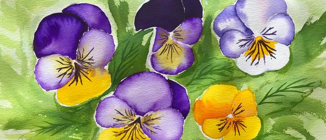 Watercolour & Wine Afternoon - Wild Viloa Flowers