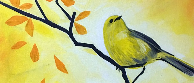 Paint and Wine Night -Mohua in Autumn - Paintvine
