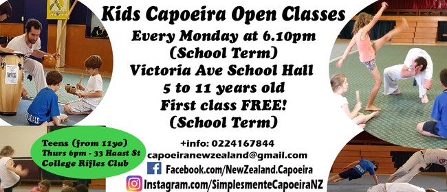 Kids Capoeira Classes Term 3: CANCELLED