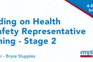 Image for event: Building on Health & Safety Representative Training - Stage
