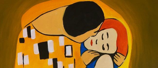 Paint & Wine Night -The Kiss