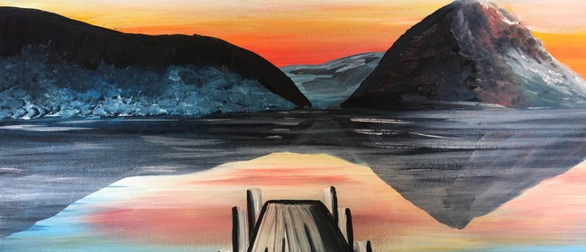 Paint and Wine Night-Sunset at the Wharf