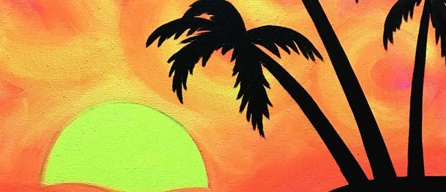 Glow in the Dark Paint Night - Tropical Beach