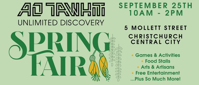 Ao Tawhiti Unlimited Discovery School - Spring Fair