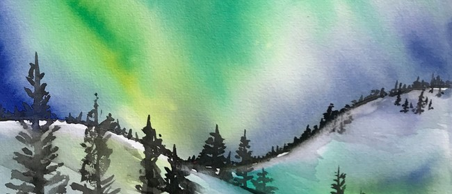 Watercolour & Wine Afternoon - Northern Lights
