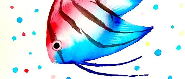 Watercolour and Wine Night - Angel Fish