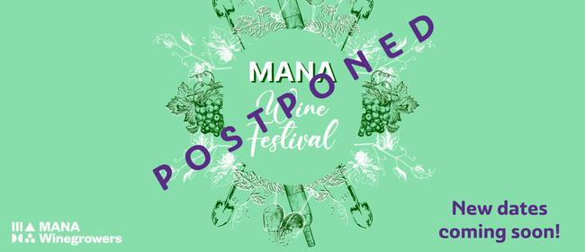 MANA Wine Fest: POSTPONED