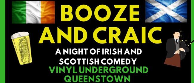 Booze and Craic - A Night of Irish and Scottish Comedy