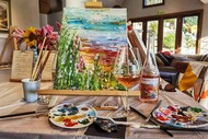 Image for event: Wine and Paint Retreat