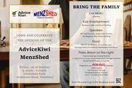 Image for event: AdviceKiwi MenzShed Opening Night