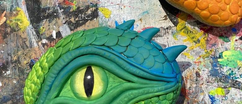 Kid-Friendly Craft + Open Paint - Dragon Mania