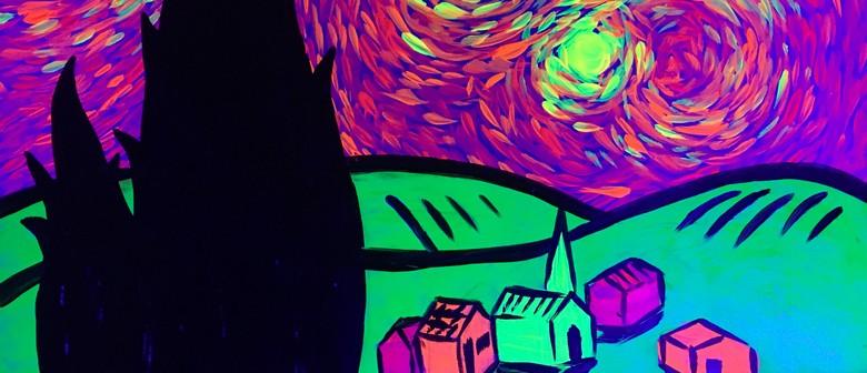 Glow in the Dark Paint Night - A Glowy Night