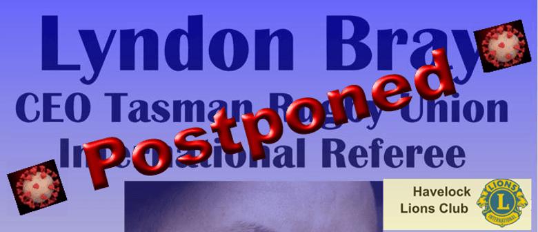 Lyndon Bray for Movember: POSTPONED