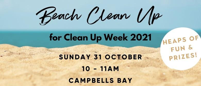 Beach Clean Up at Campbells Bay
