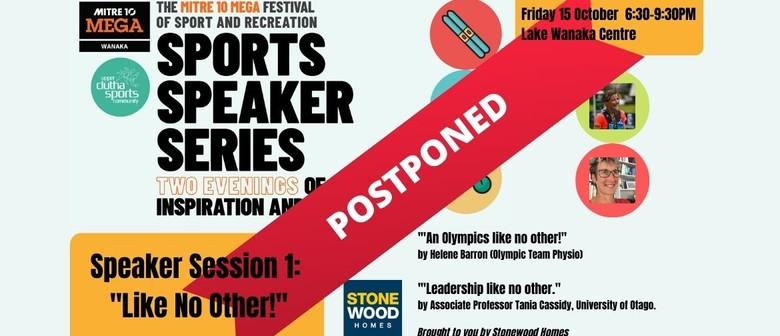 Mitre 10 MEGA Festival of Sport and Rec Speaker Series #1: POSTPONED