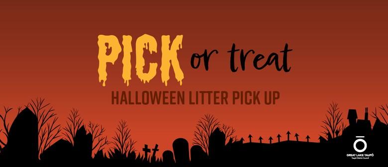 Pick or Treat Halloween Litter Pick up