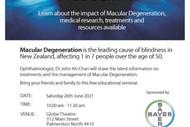 Seminar on Macular Degeneration - Christchurch: POSTPONED