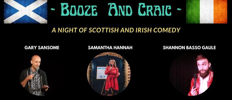 Booze and Craic: A Night of Scottish and Irish Comedy