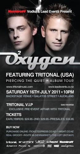 Oxygen feat Tritonal (USA) - Auckland - Eventfinda