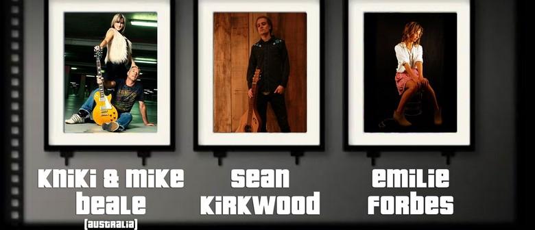 Sean Kirkwood, Kiniki & Mike Beale (Aus), and Emily Forbes