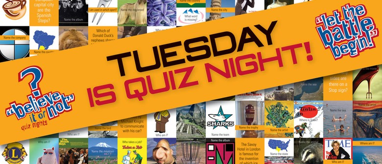 Quiz Night Ft Brendhan Lovegrove as Quiz Master