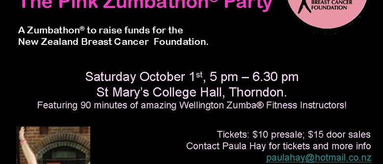 Pink Zumbathon Party for The NZBCF
