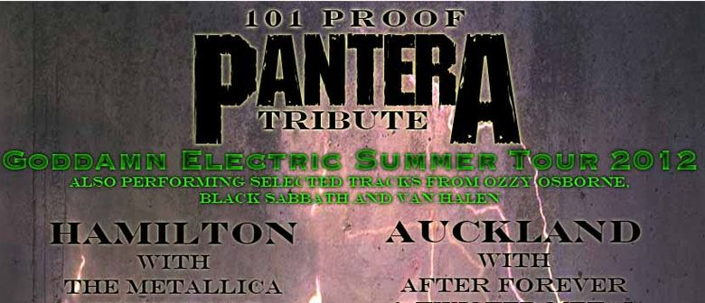 101 Proof Pantera Tribute - The Goddamn Electric Summer Tour
