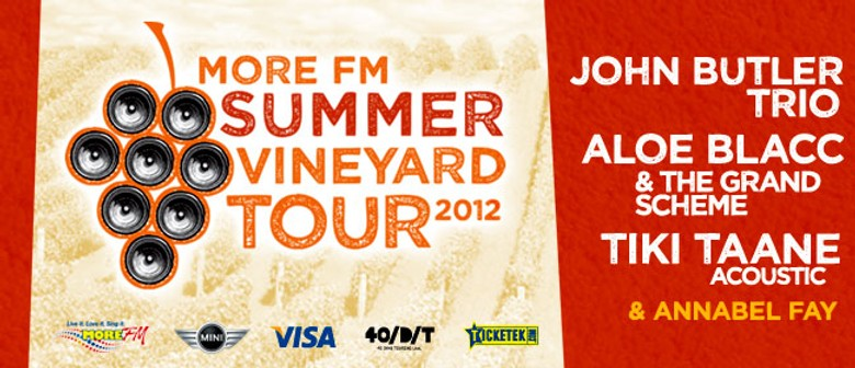 More FM Summer Vineyard Tour 2012: CANCELLED